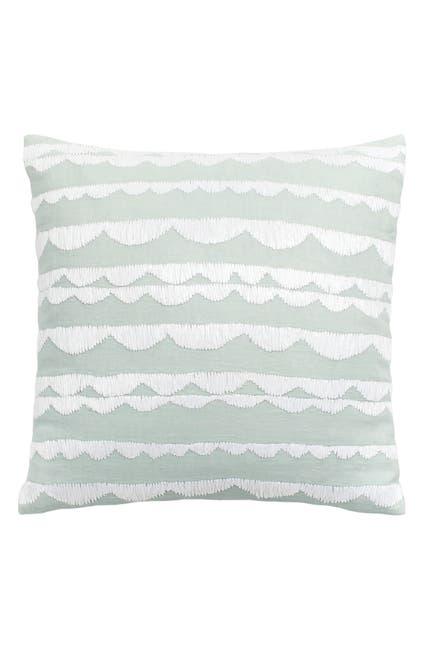 "Image of kate spade new york aqua scallop row decorative pillow - 18"" x 18"""