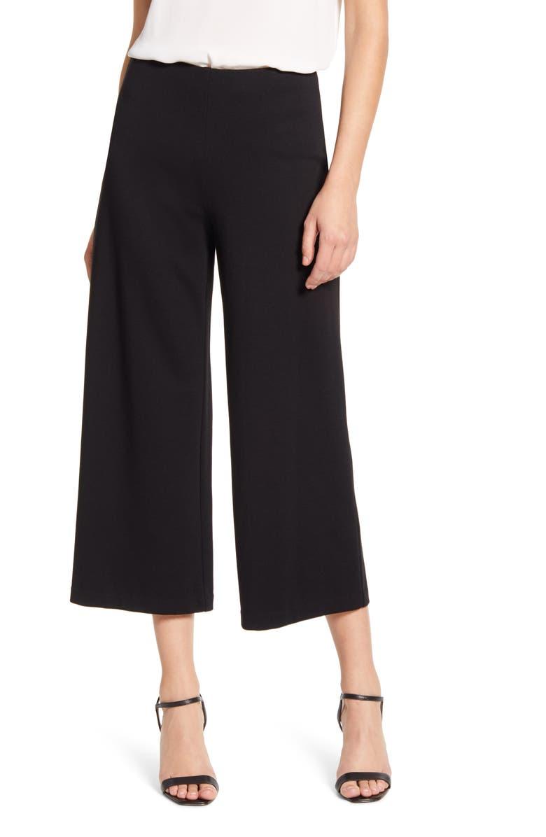 BAILEY 44 Lizzie Crop Wide Leg Pants, Main, color, BLACK