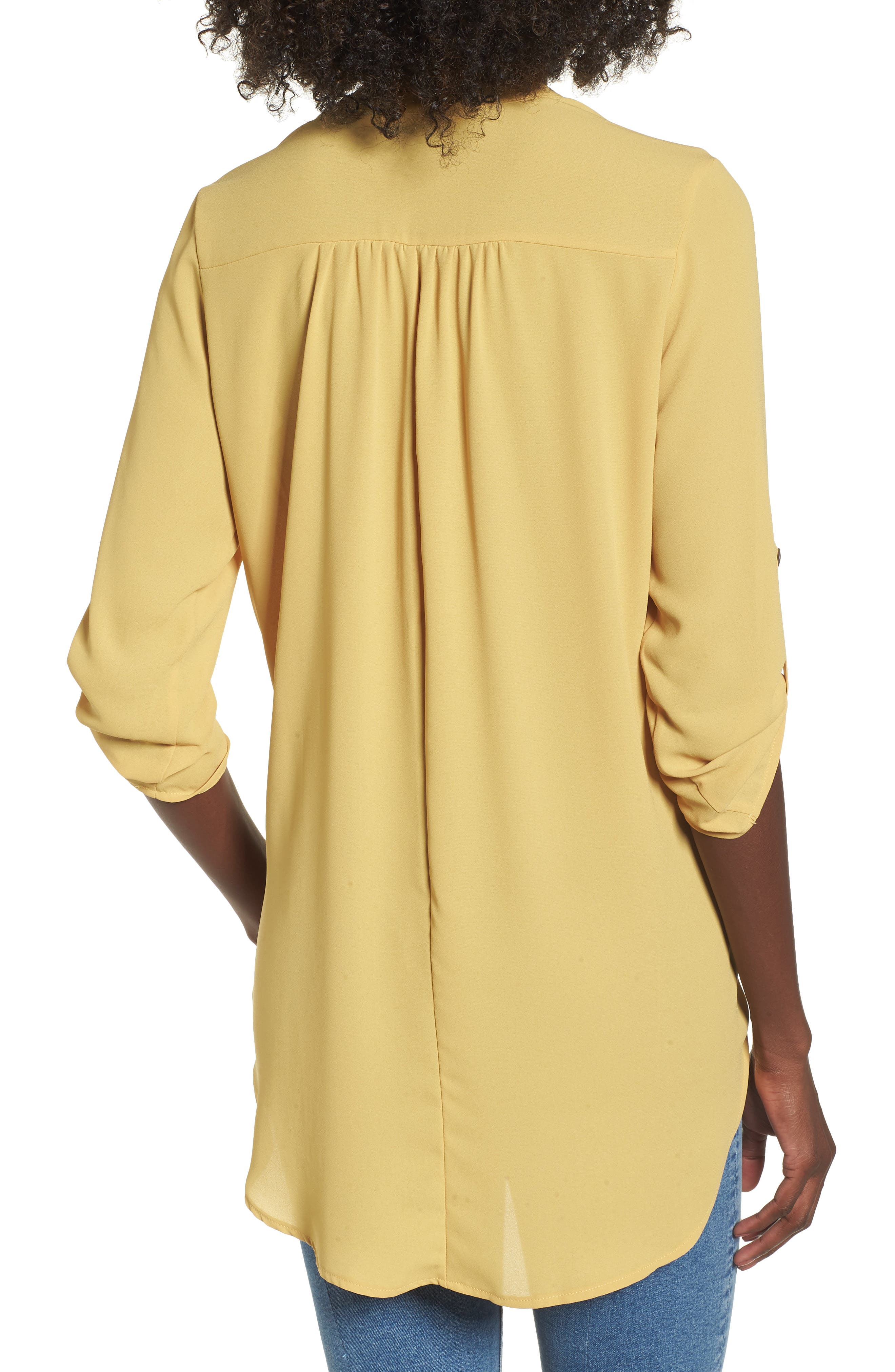 ,                             Perfect Roll Tab Sleeve Tunic,                             Alternate thumbnail 160, color,                             741