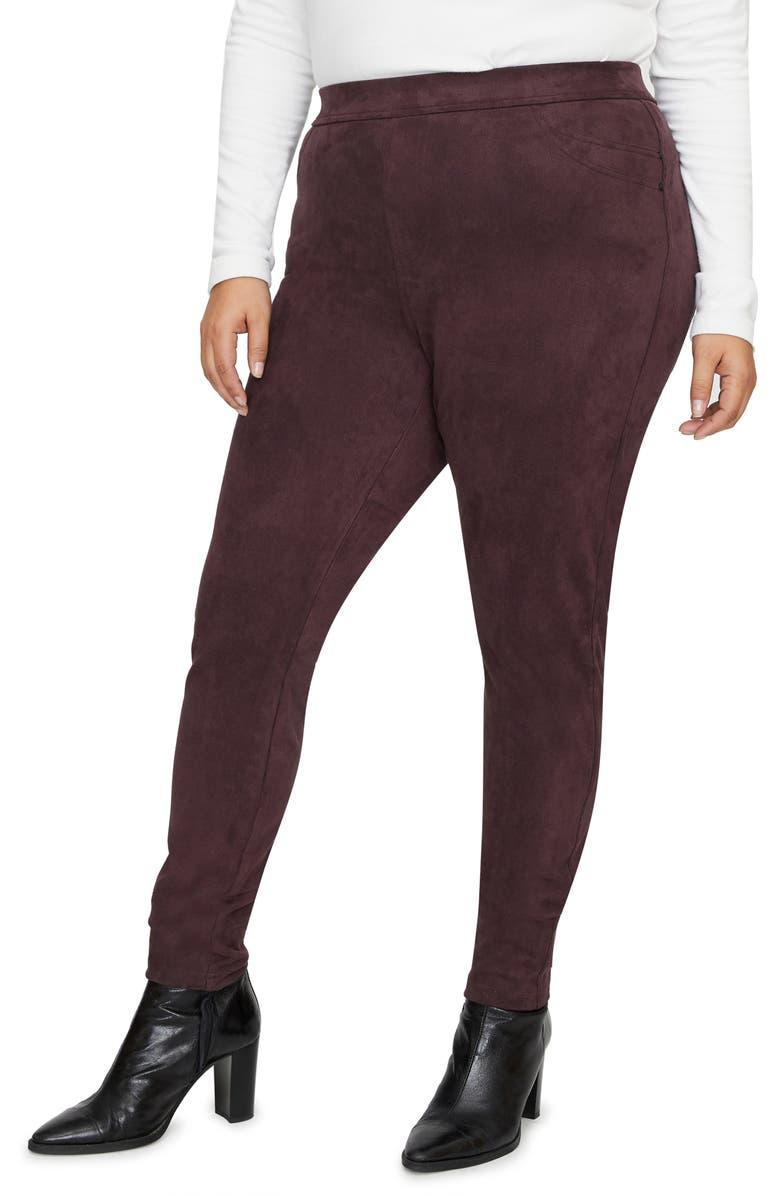 SANCTUARY Grease Faux Suede Legging Pants, Main, color, AMETHYST