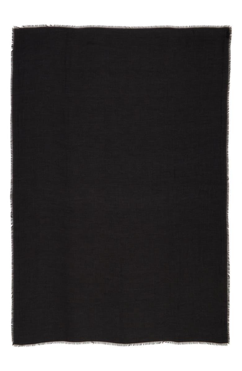 JIMMY CHOO Logo Jacquard Modal & Cashmere Pashmina, Main, color, BLACK