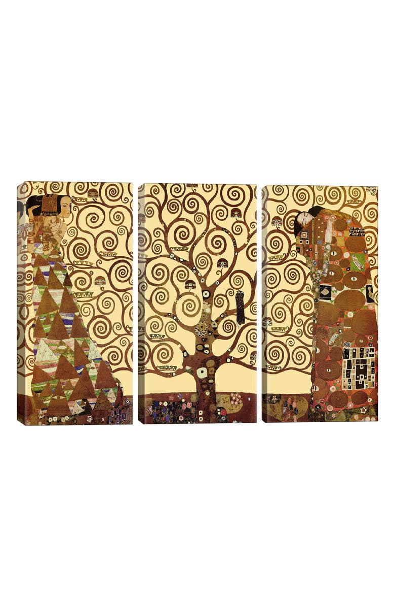 ICANVAS The Tree of Life Giclée Print Canvas Triptych, Main, color, BROWN