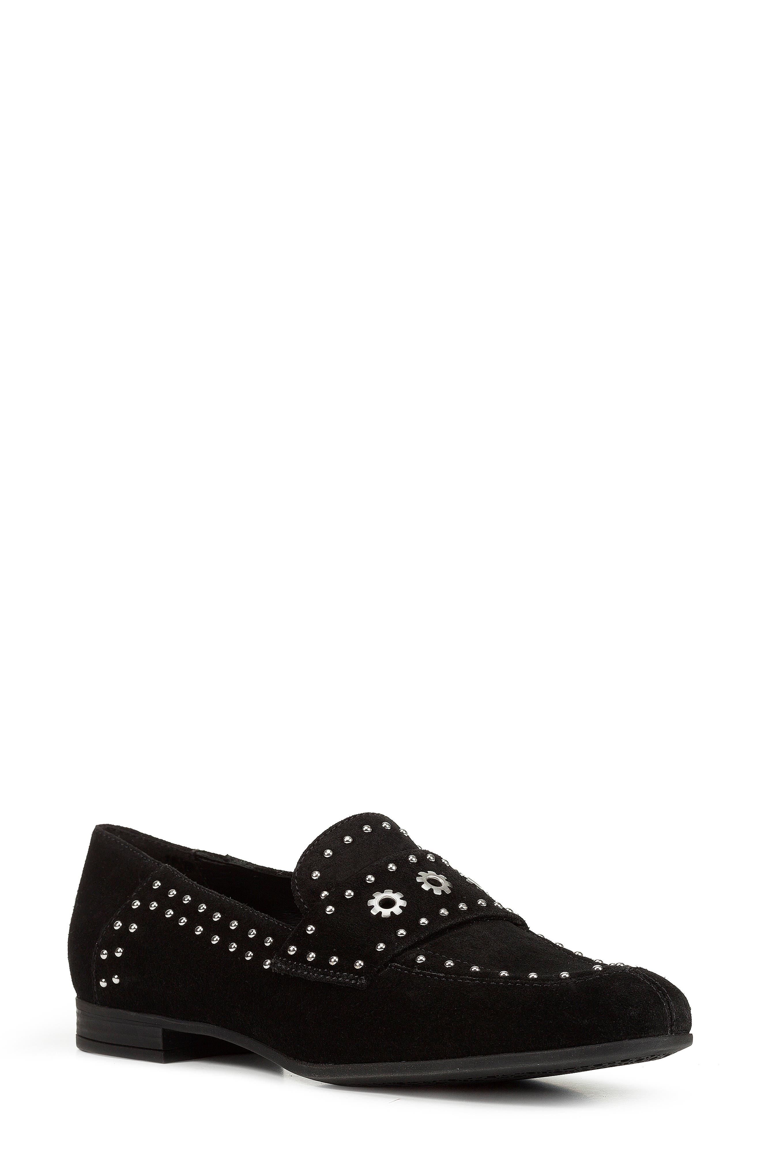 Geox Marlyna Studded Loafer, Black