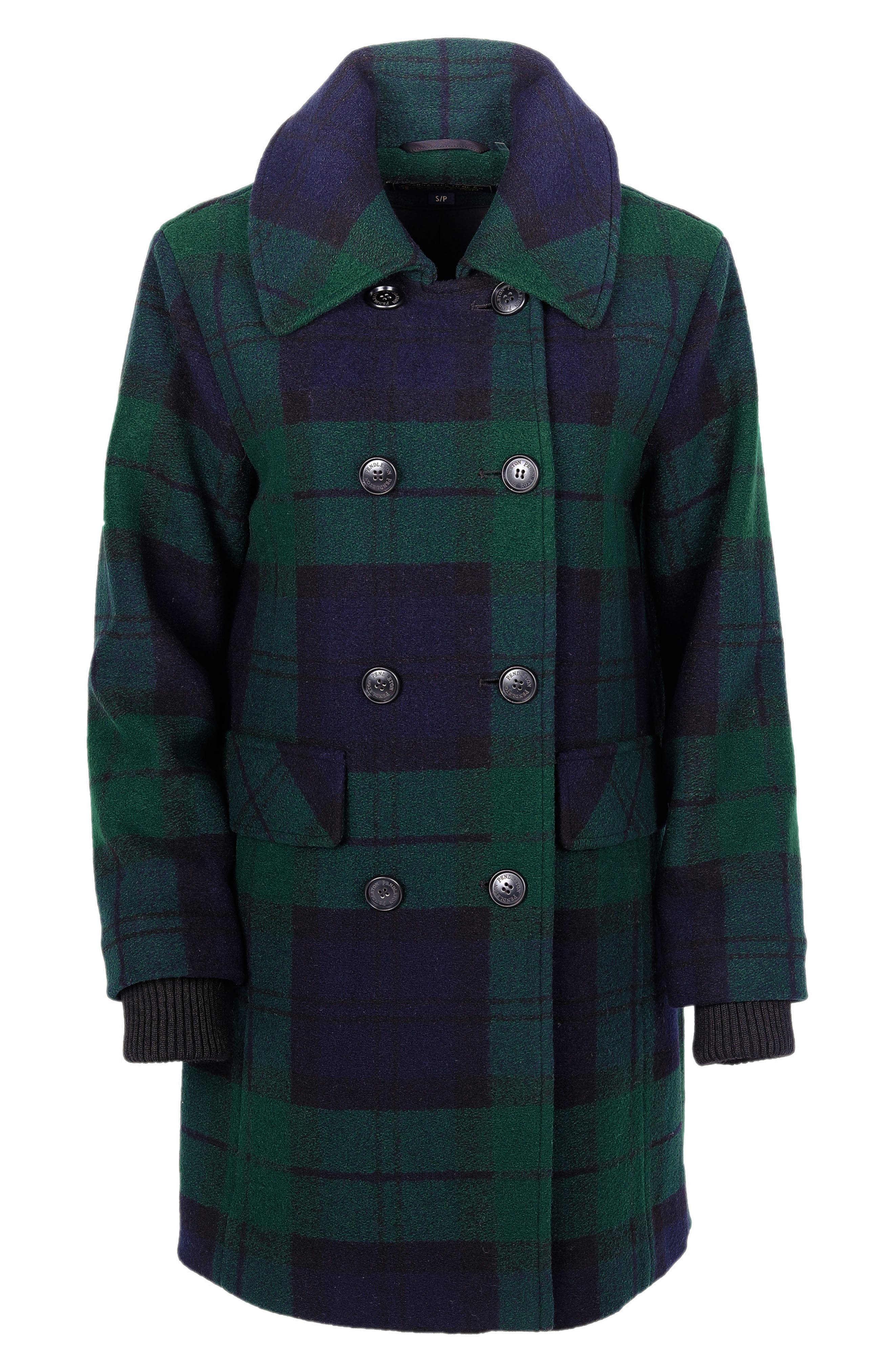 Vintage Coats & Jackets | Retro Coats and Jackets Womens Pendleton Forest Park Double Breasted Wool Blend Coat $229.90 AT vintagedancer.com