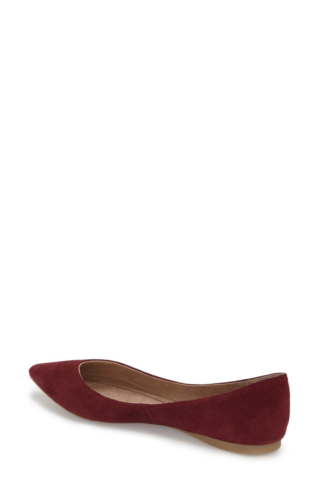 ,                             'Moveover' Pointy Toe Leather Flat,                             Alternate thumbnail 44, color,                             933