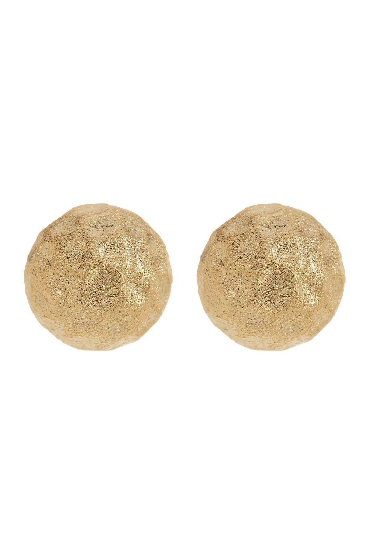 Image of Rivka Friedman 18K Gold Clad Hammered Ball Satin Stud Earrings