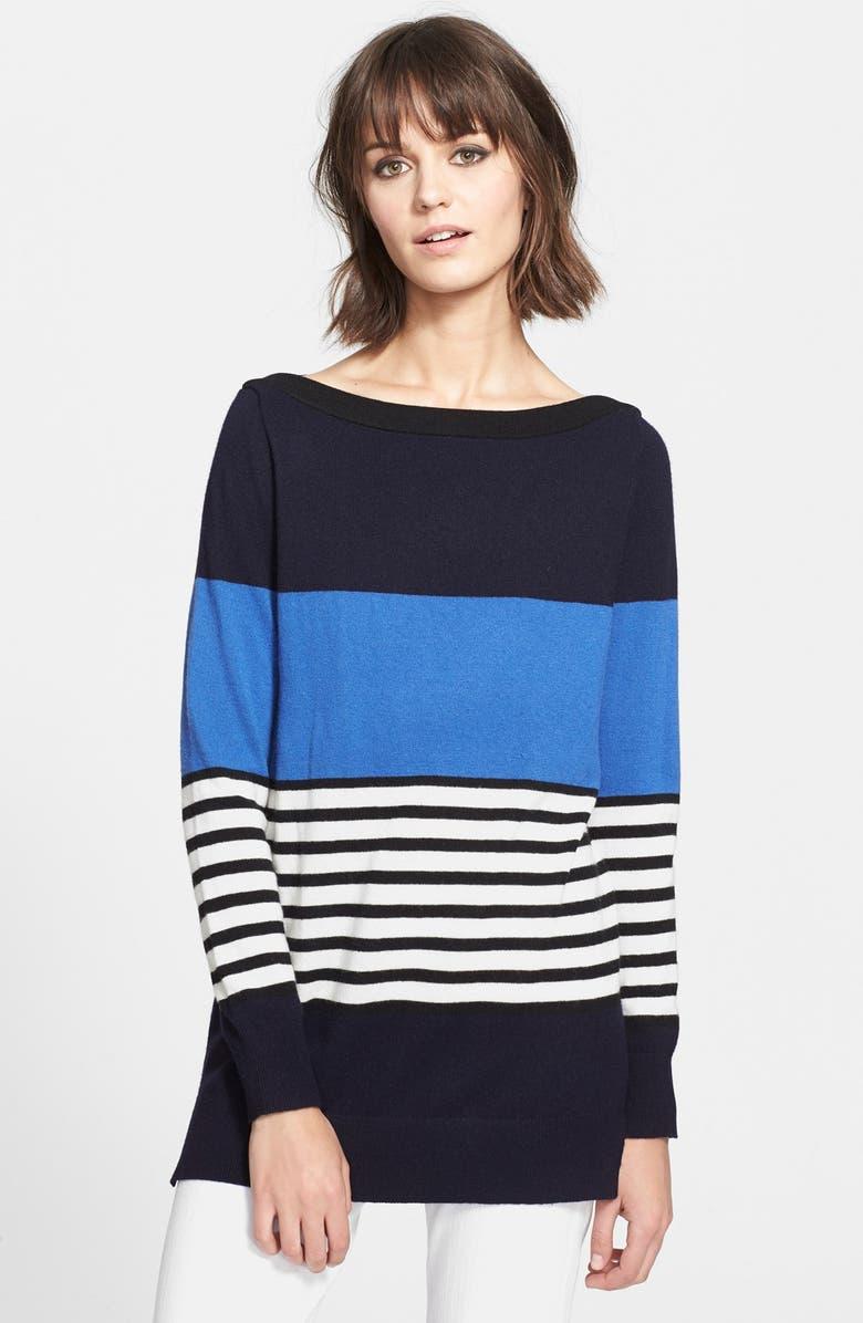 KATE SPADE NEW YORK 'amari' stripe sweater, Main, color, 476