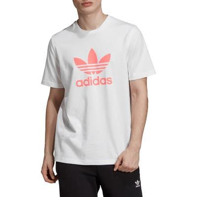 Adidas Originals Trefoil Graphic T-Shirt, White