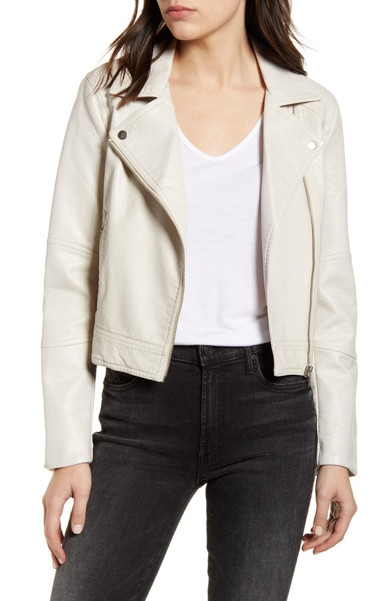 CUPCAKES AND CASHMERE Chandler Faux Leather Jacket, Main, color, 900