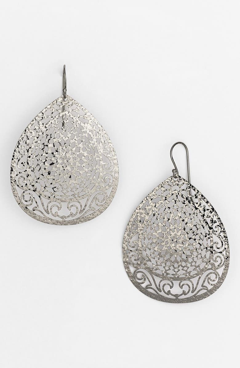ARGENTO VIVO STERLING SILVER Argento Vivo Large Teardrop Earrings, Main, color, 040