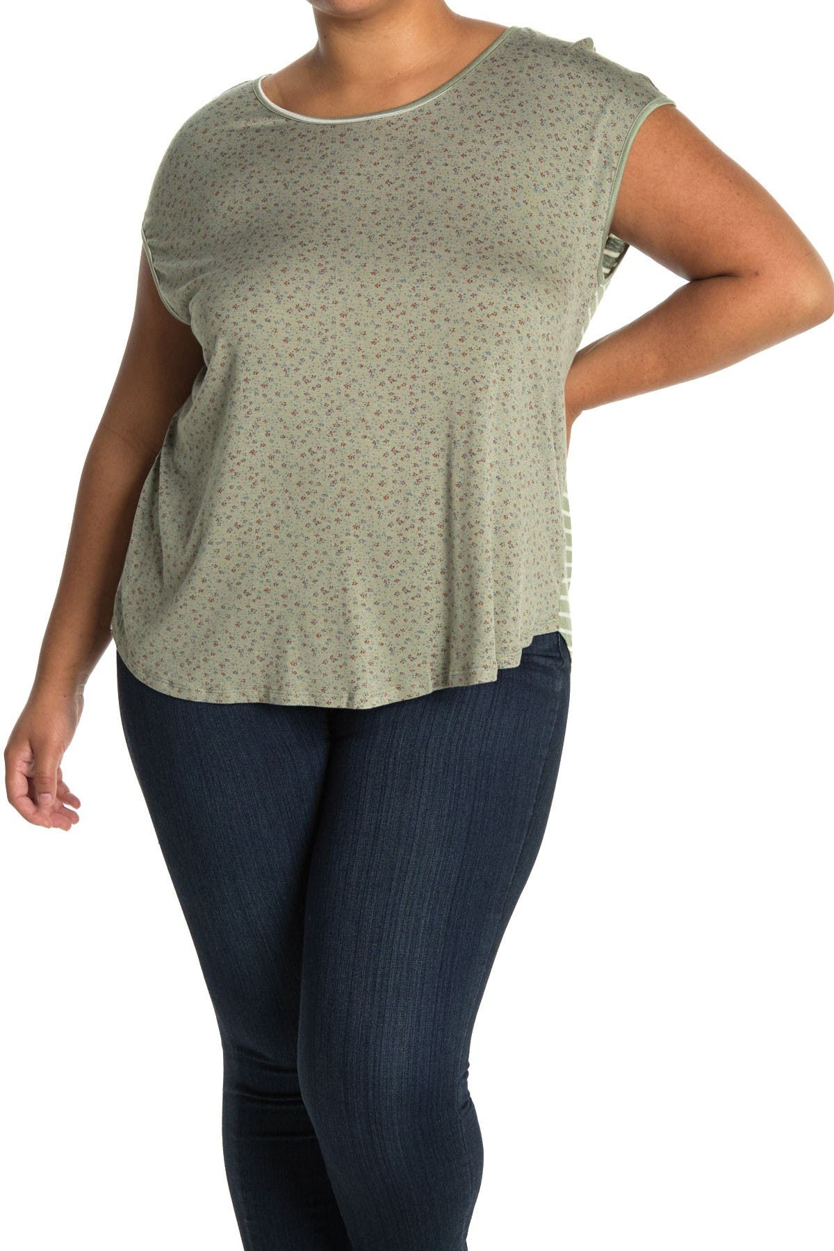 Image of Bobeau High-Low Knit Top