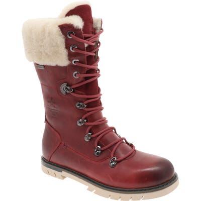Royal Canadian Sherbrooke Genuine Shearling Cuff Waterproof Boot- Burgundy