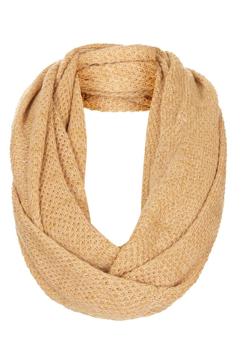 TOPSHOP Basket Stitch Infinity Scarf, Main, color, 252