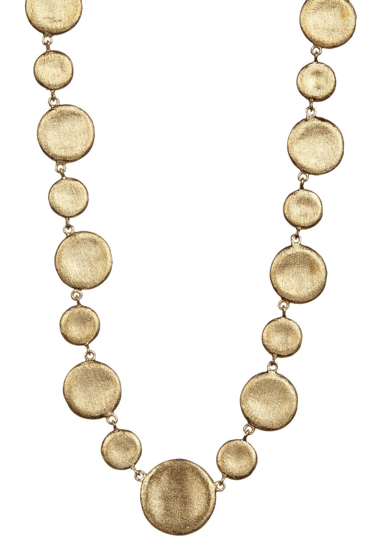 Image of Rivka Friedman 18K Gold Clad Concave Alternating Pebble Necklace