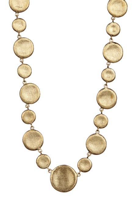 Image of Rivka Friedman 18K Gold Clad Concave Alternating Pebble Necklace
