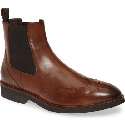 Johnston & Murphy Ridgeland Wingtip Chelsea Boot, Brown
