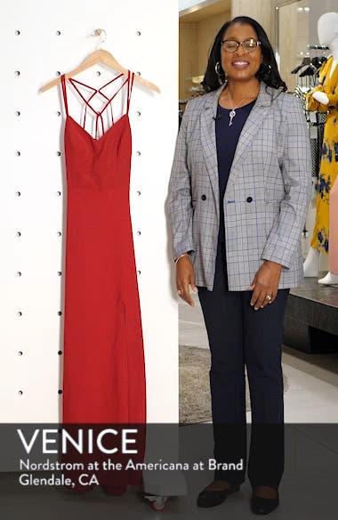 Strappy Glitter Knit Evening Dress, sales video thumbnail