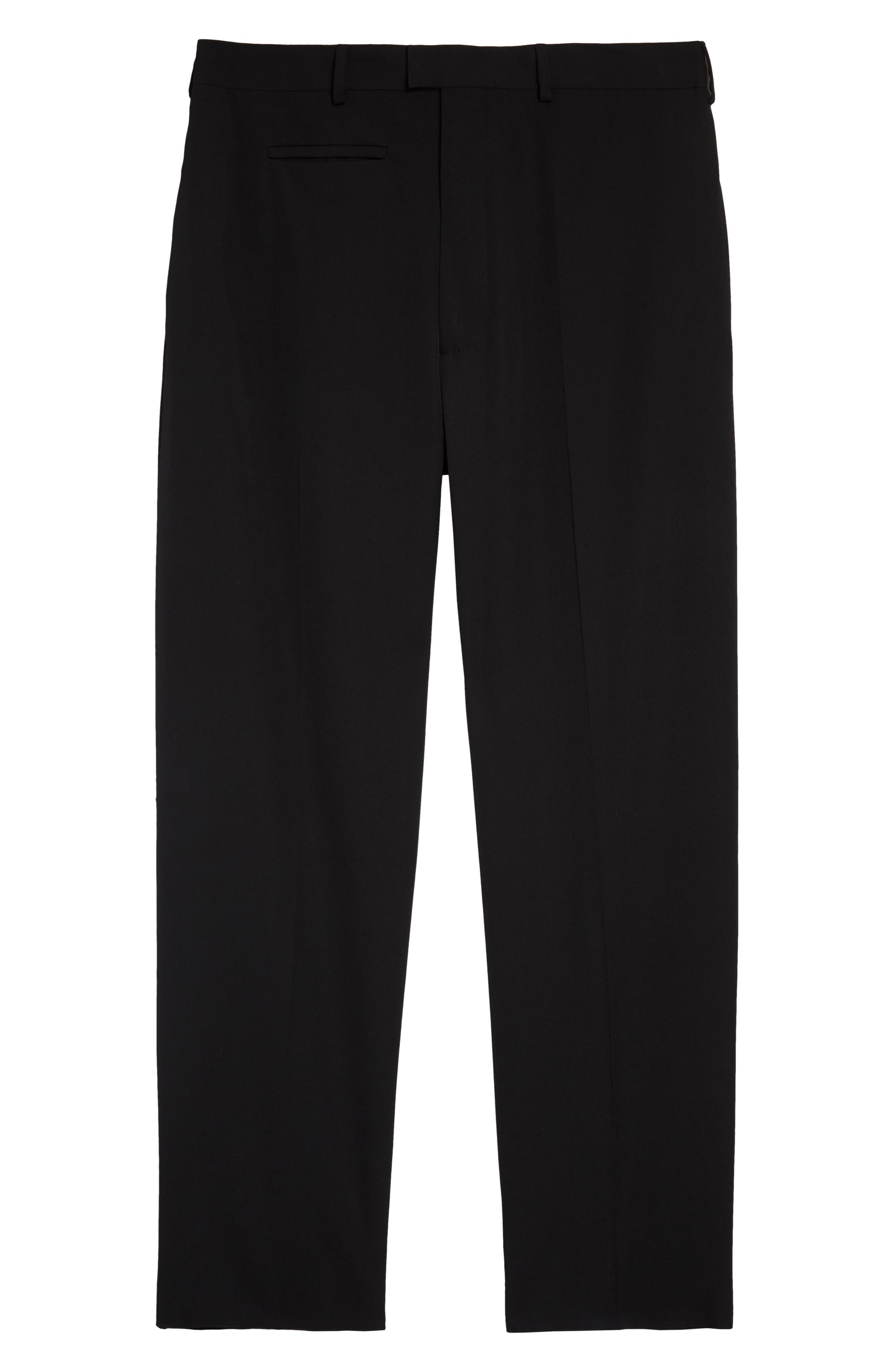 Men's Bottega Veneta Fluid Wool Gabardine Dress Pants,  52 EU - Black