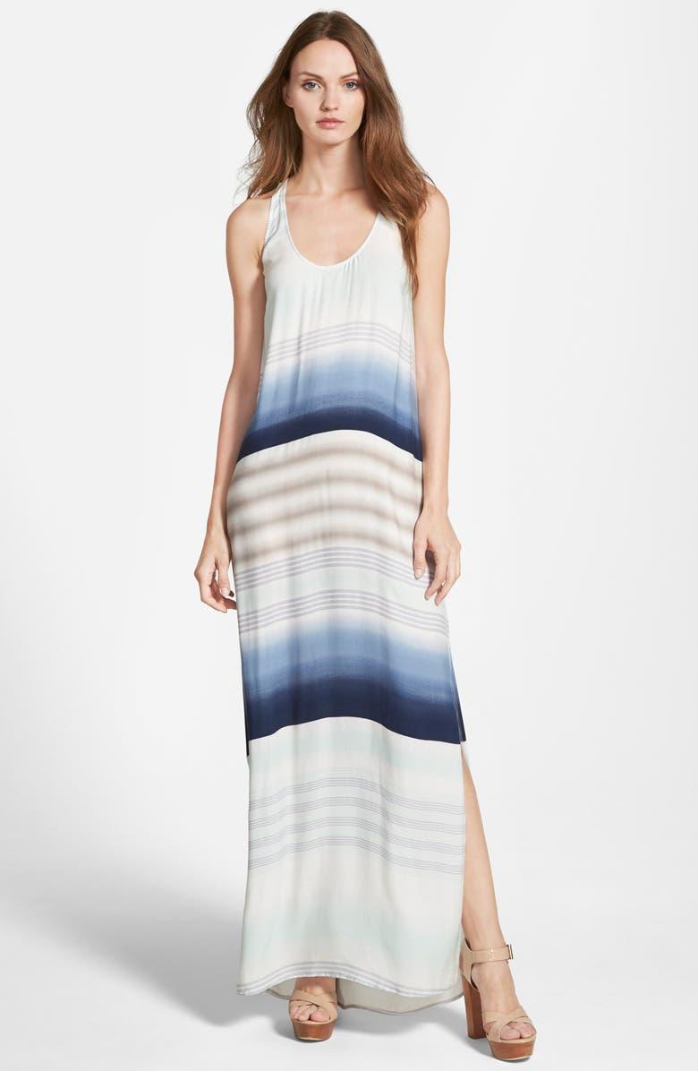 SPLENDID Tropical Stripe Maxi Dress, Main, color, 460