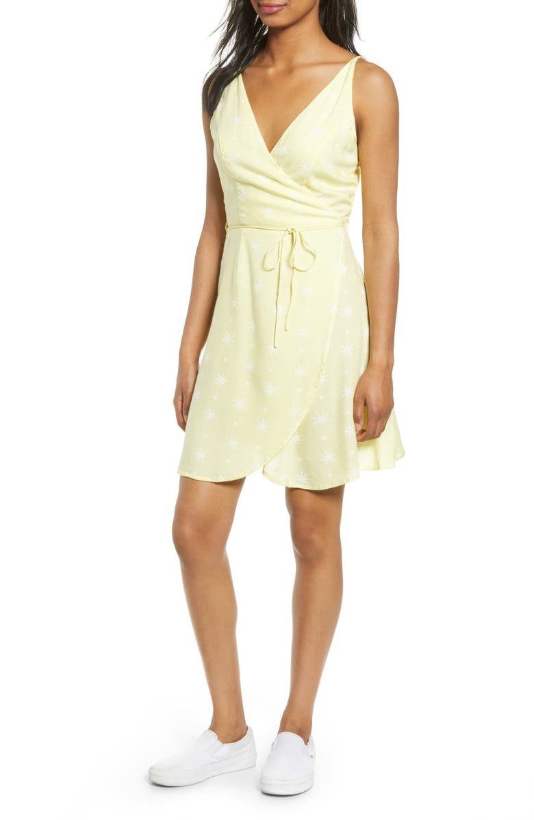 VOLCOM Things Changing Wrap Dress, Main, color, 700