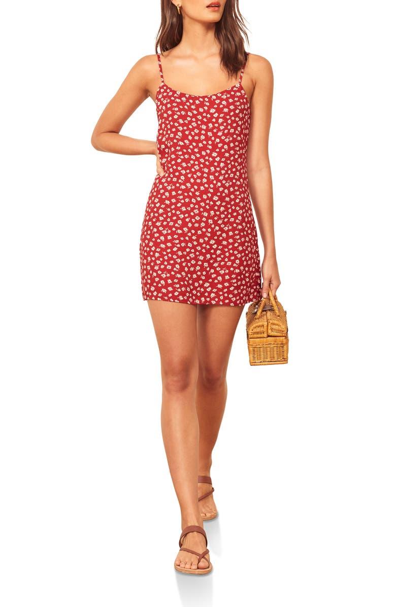 REFORMATION Lindsay Dress, Main, color, WESTERN