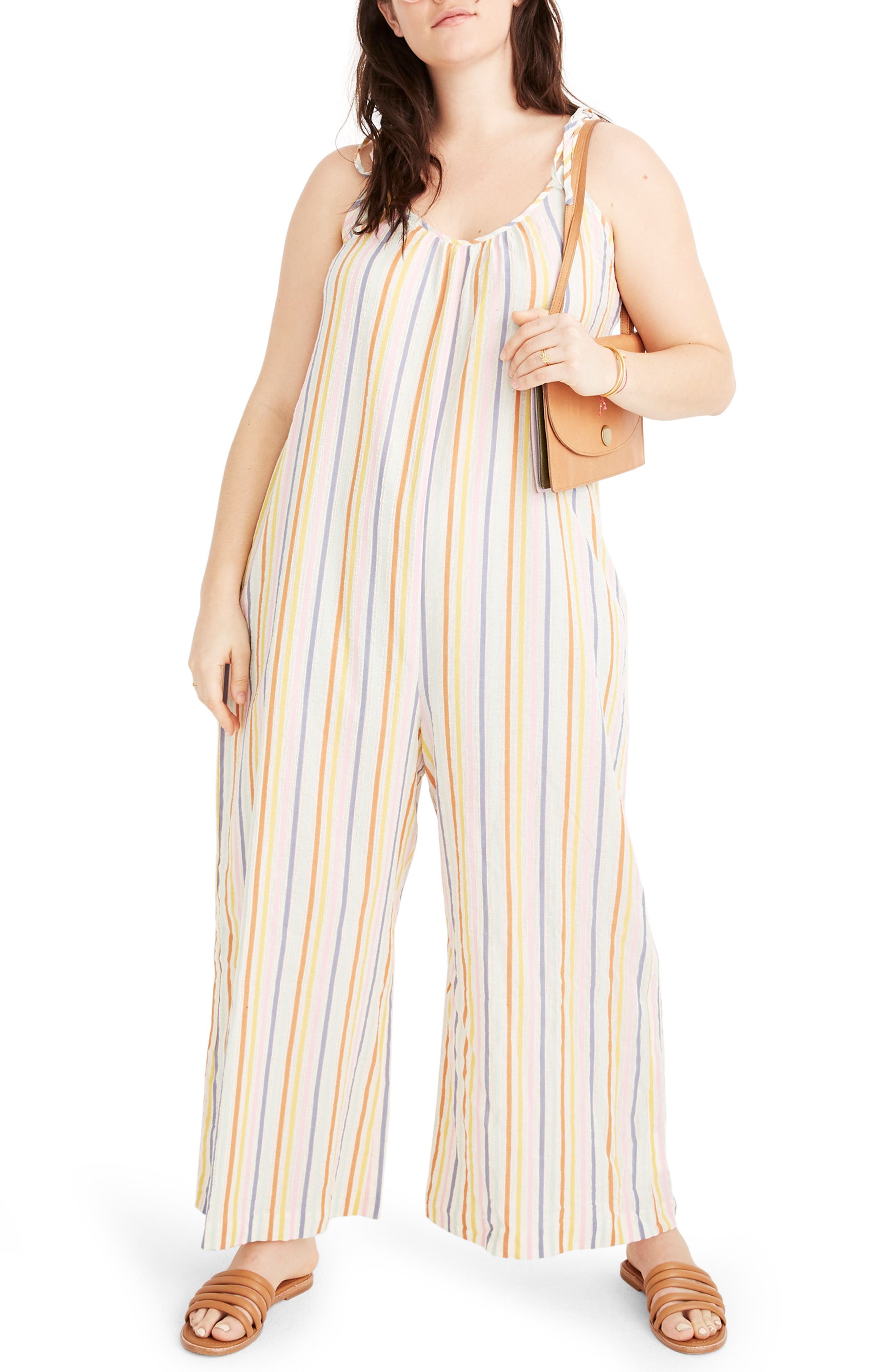,                             Tie Strap Cover-Up Jumpsuit  Tie-Strap Cover-Up Jumpsuit,                             Alternate thumbnail 4, color,                             PEARL IVORY