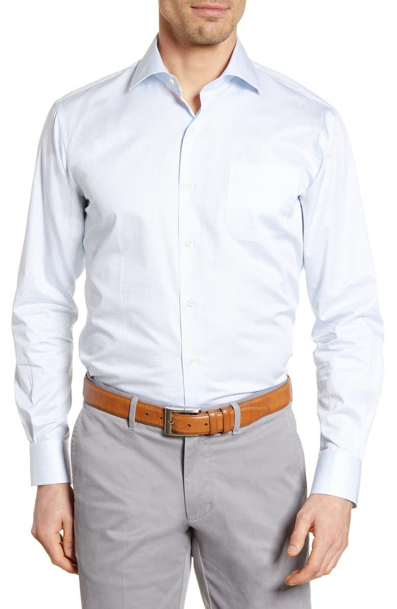 PETER MILLAR Richland Regular Fit Button-Up Shirt, Main, color, COTTAGE BLUE