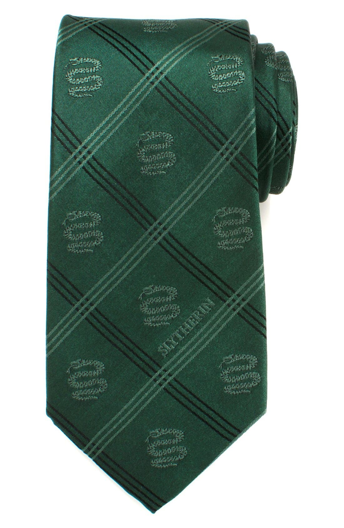A fun Harry Potter print stamps a subtle novelty tie cut from pure silk. Style Name: Cufflinks, Inc. \\\'slytherin\\\' Silk Tie. Style Number: 5229213. Available in stores.