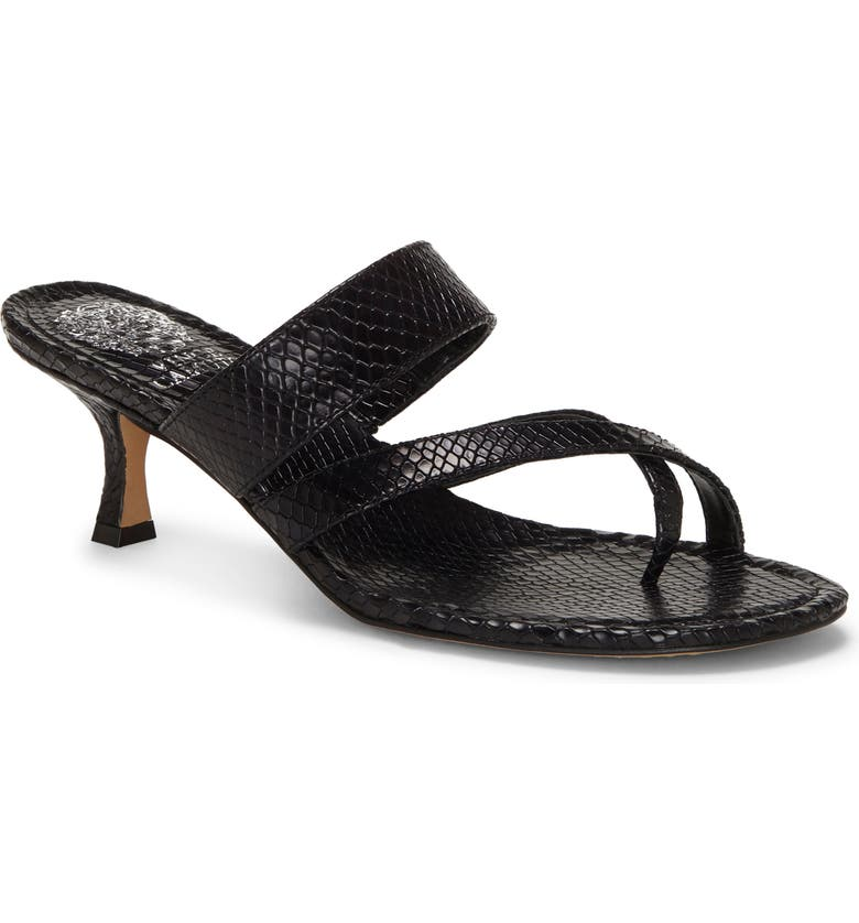 VINCE CAMUTO Moentha Slide Sandal, Main, color, BLACK LEATHER