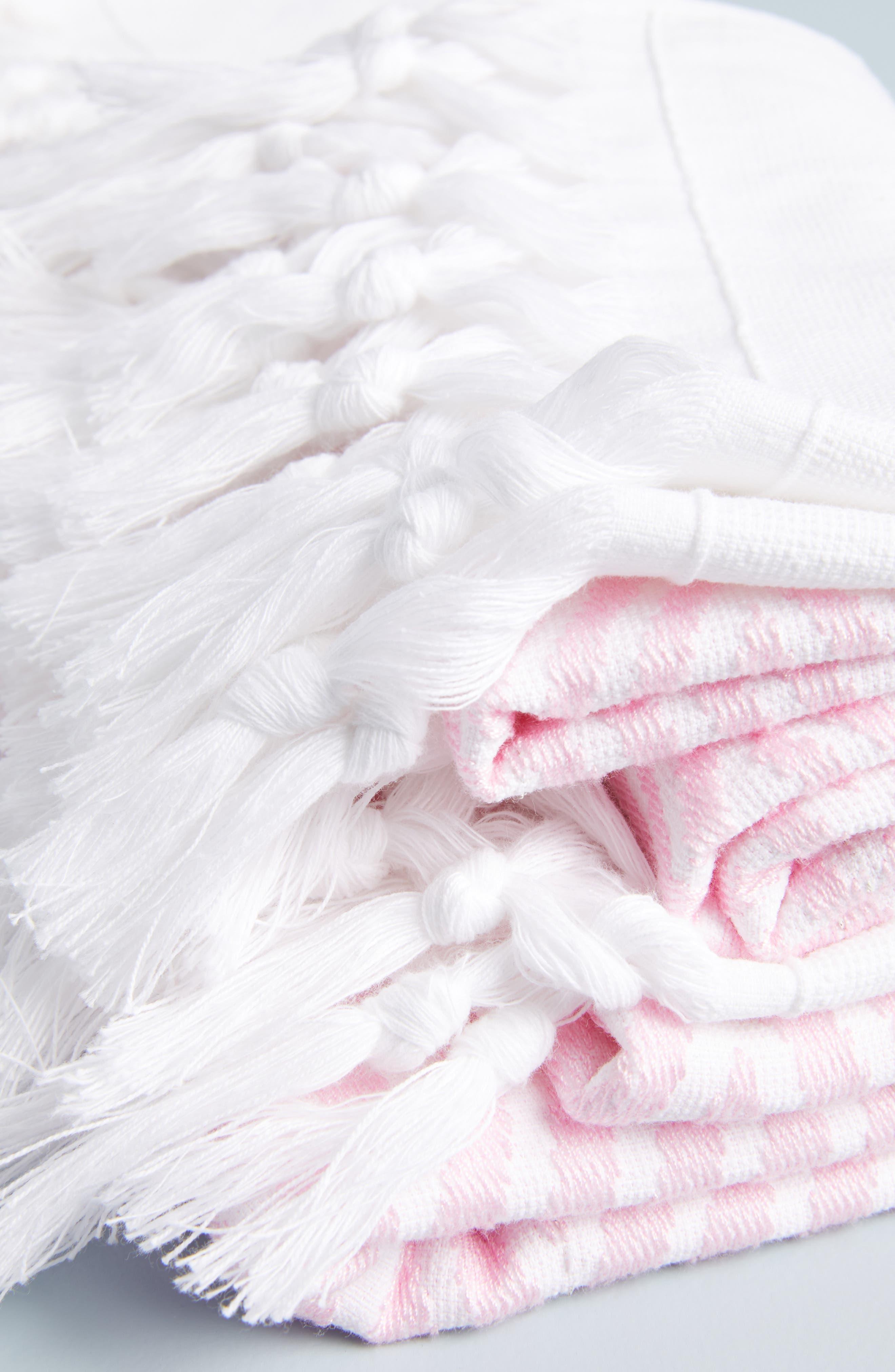,                             Simena Tassel Bath Towel,                             Alternate thumbnail 2, color,                             PINK