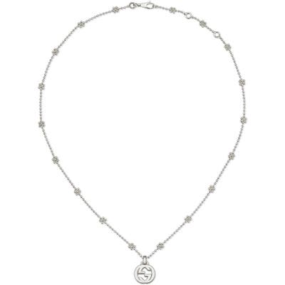 Gucci Silver Interlocking-G Pendant Necklace
