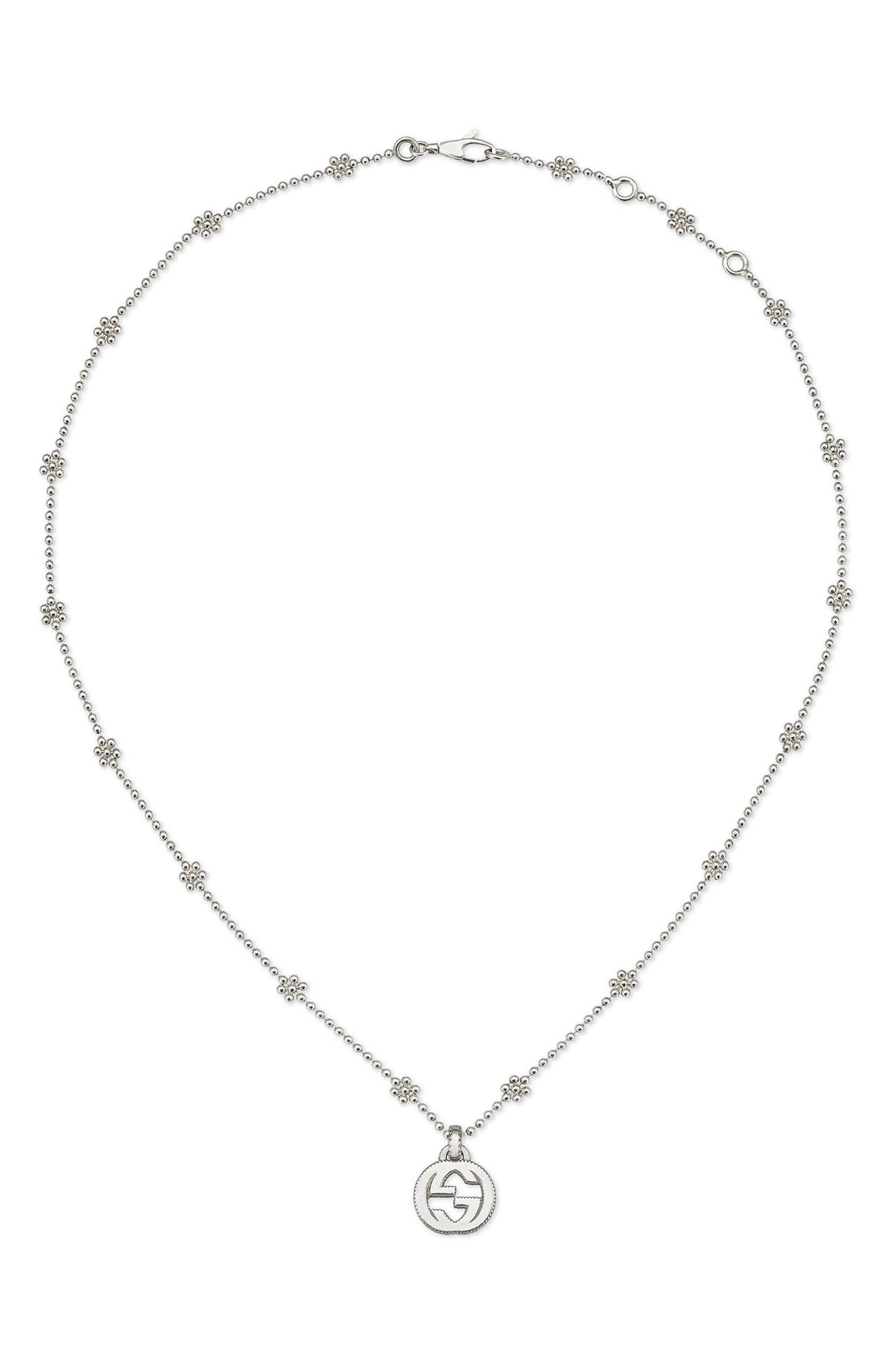7fc66da4e79299 Gucci Silver Interlocking-G Pendant Necklace | Nordstrom