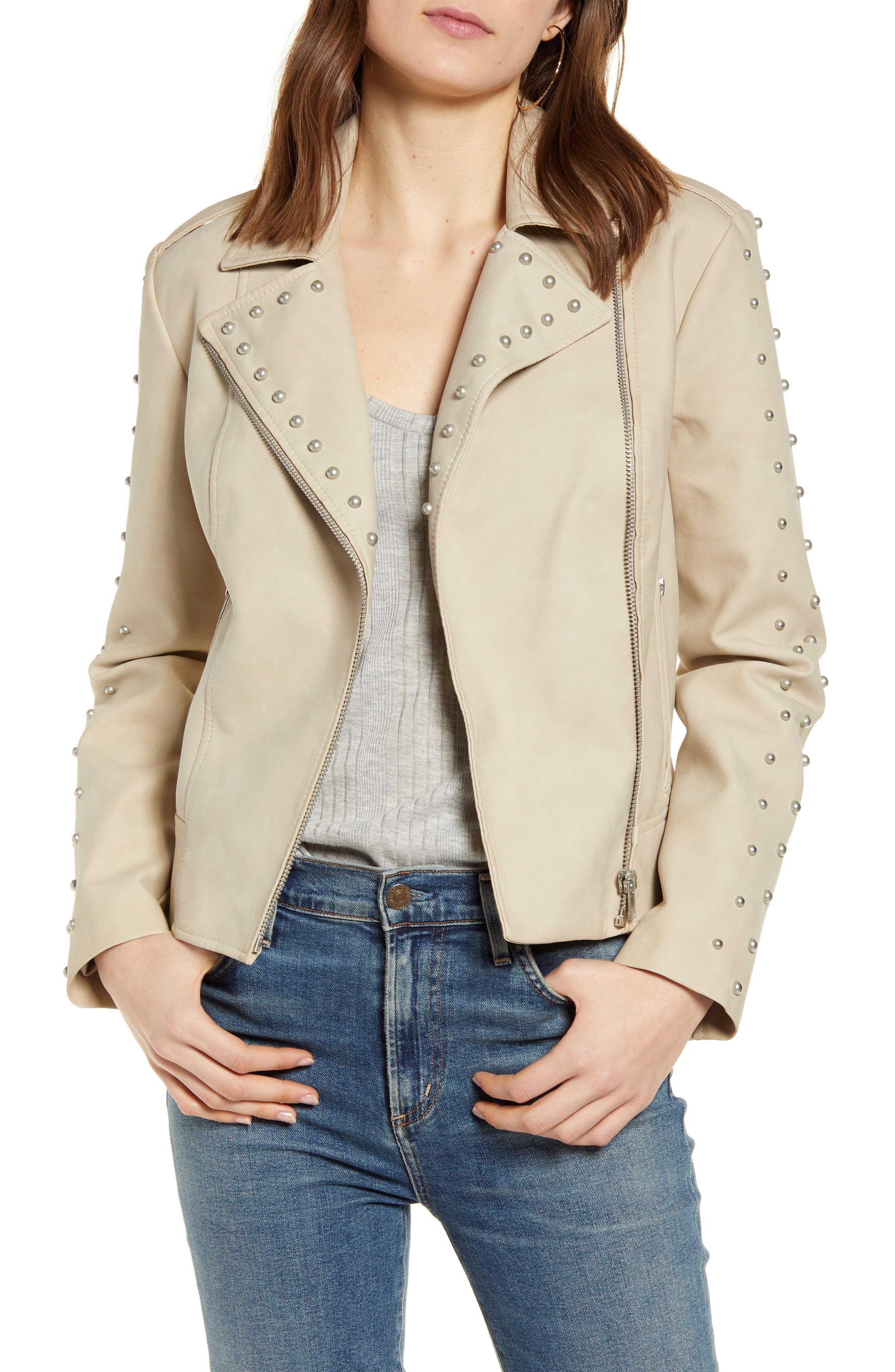 Image of BB Dakota True Stud Faux Leather Blazer