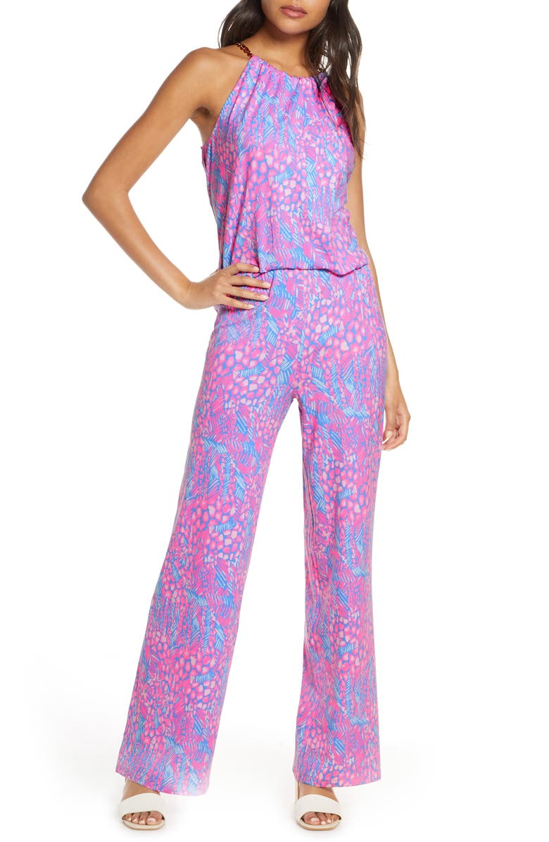 LILLY PULITZER<SUP>®</SUP> Bowen Jumpsuit, Main, color, PINK SORBET HIGH ALTITUDE