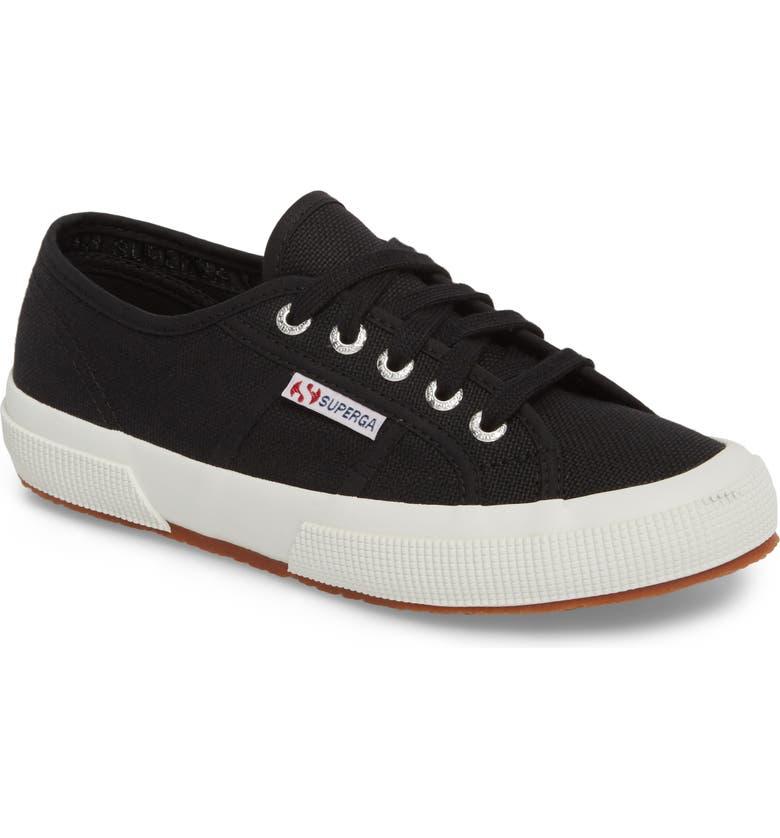 SUPERGA 'Cotu' Sneaker, Main, color, BLACK/ BLACK/ WHITE