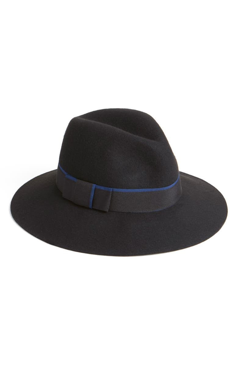 PHASE 3 Double Banded Wool Fedora, Main, color, 001
