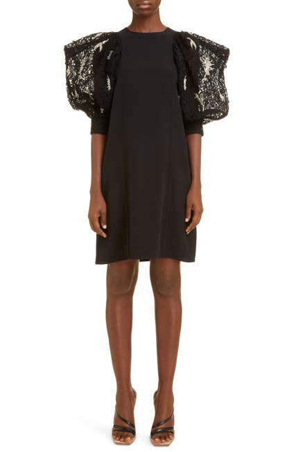 Image of Givenchy Embellished Sleeve Crepe Dress
