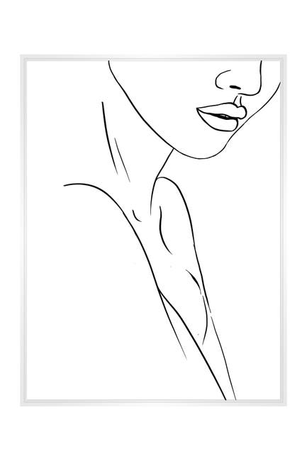 Image of PTM Images Large Line Drawing #10 Rectangle Canvas