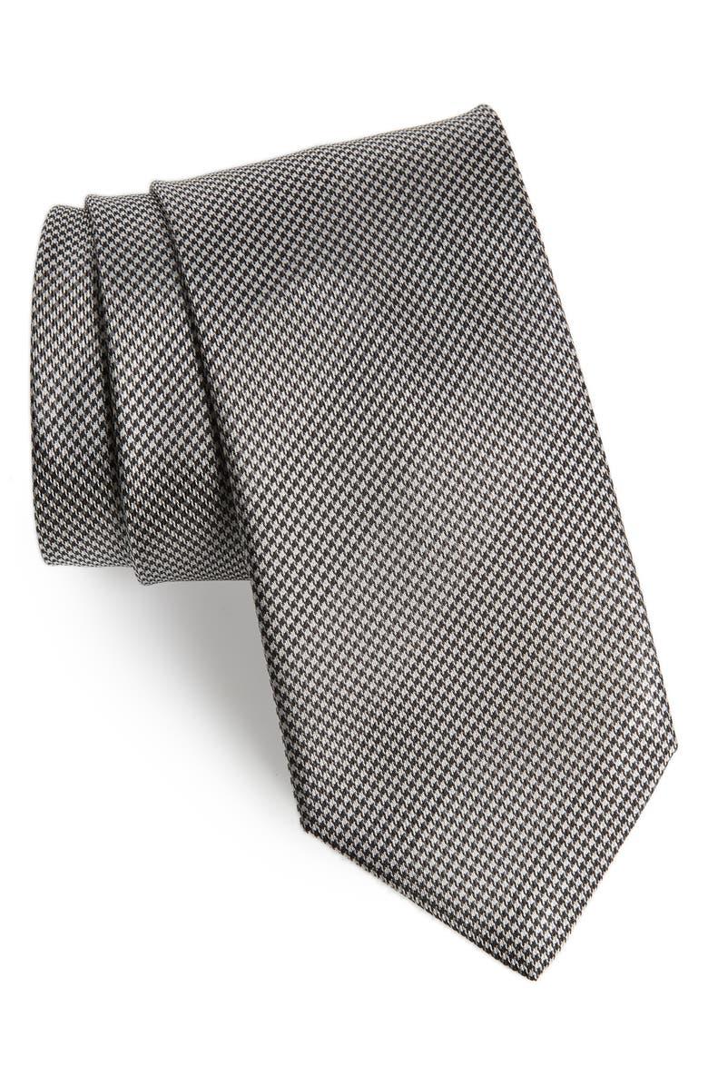 BRIONI Houndstooth Silk Tie, Main, color, 019