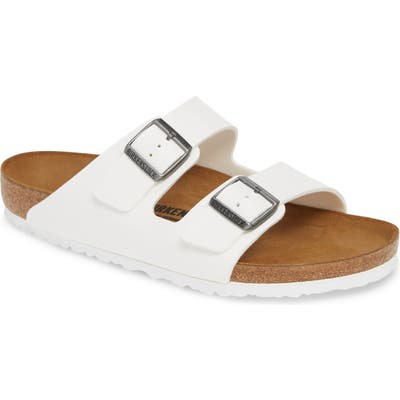 Birkenstock Arizona Slide Sandal,8.5 - White