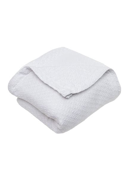 """Image of Duck River Textile King Carrie Cotton Throw Blanket - White - 90"""" x 104"""""""