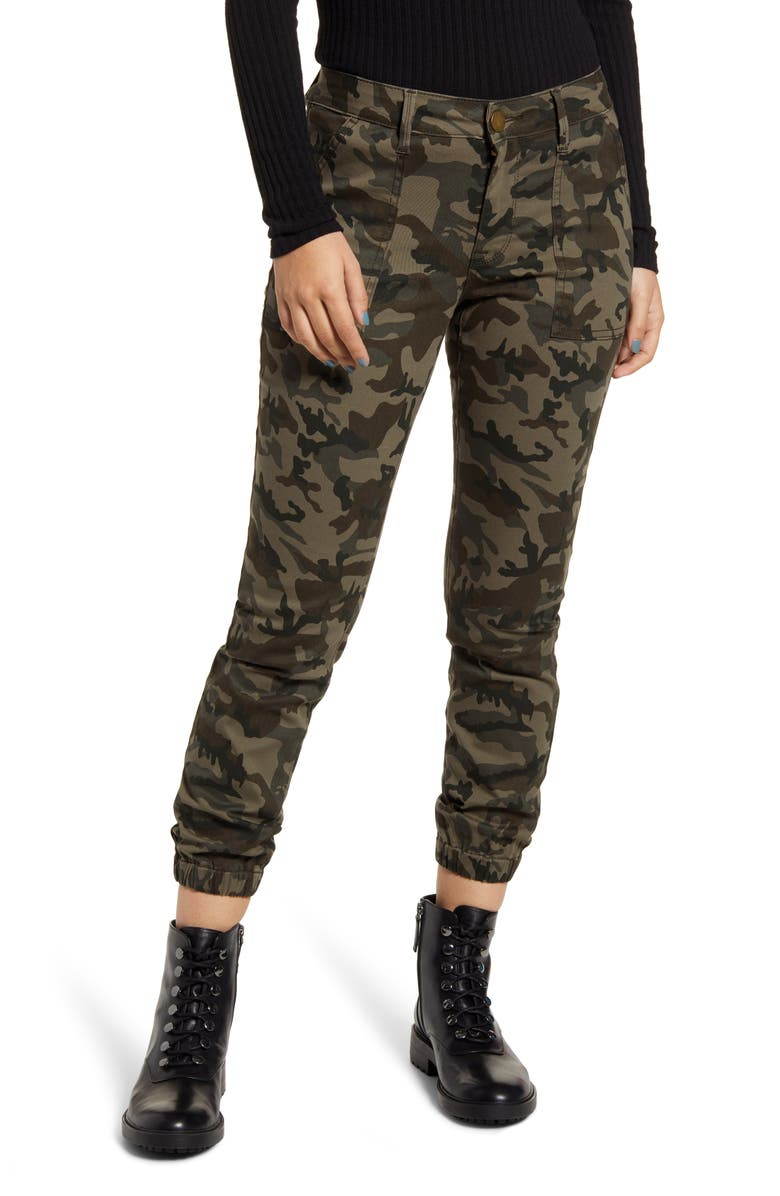 PROSPERITY DENIM Olive Camo Jogger Pants, Main, color, CAMO (GREEN)
