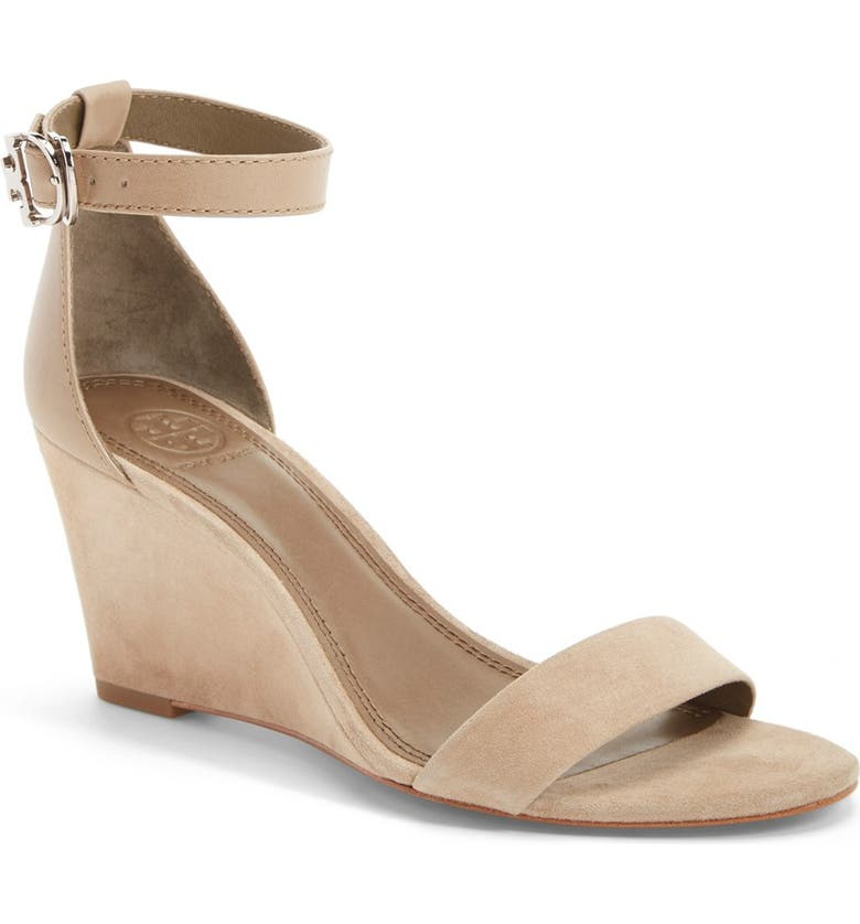 TORY BURCH 'Thames' Ankle Strap Wedge Sandal, Main, color, 050