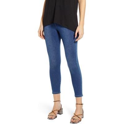 Lysse Toothpick High Rise Crop Denim Leggings, Blue