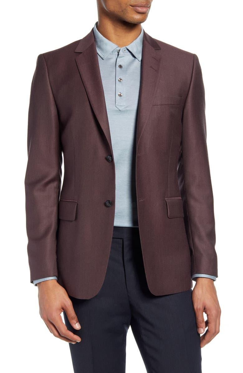 TIGER OF SWEDEN Slim Fit Solid Wool Sport Coat, Main, color, 600