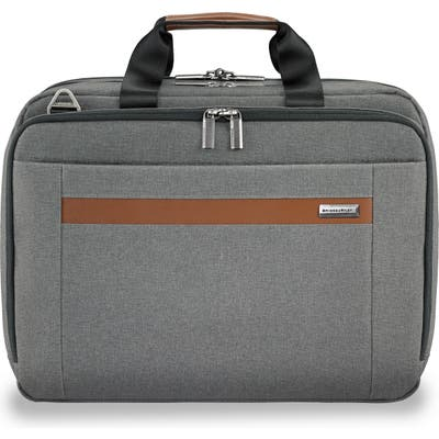 Briggs & Riley Medium Rfid Pocket Expandable Laptop Briefcase - Grey