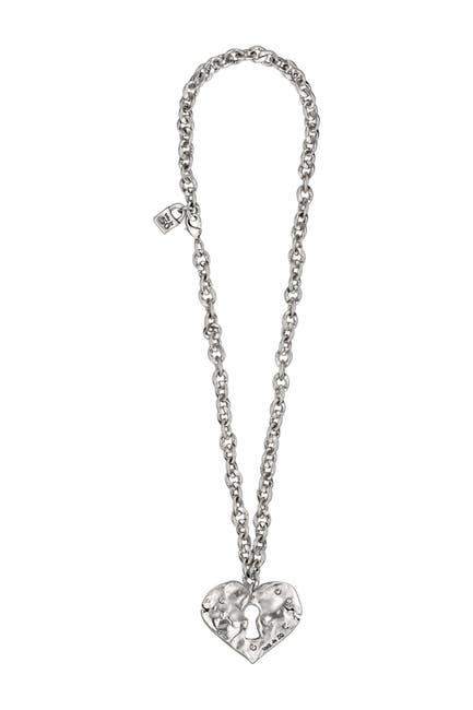 Image of Uno De 50 What Do You See Heart Lock Pendant Necklace