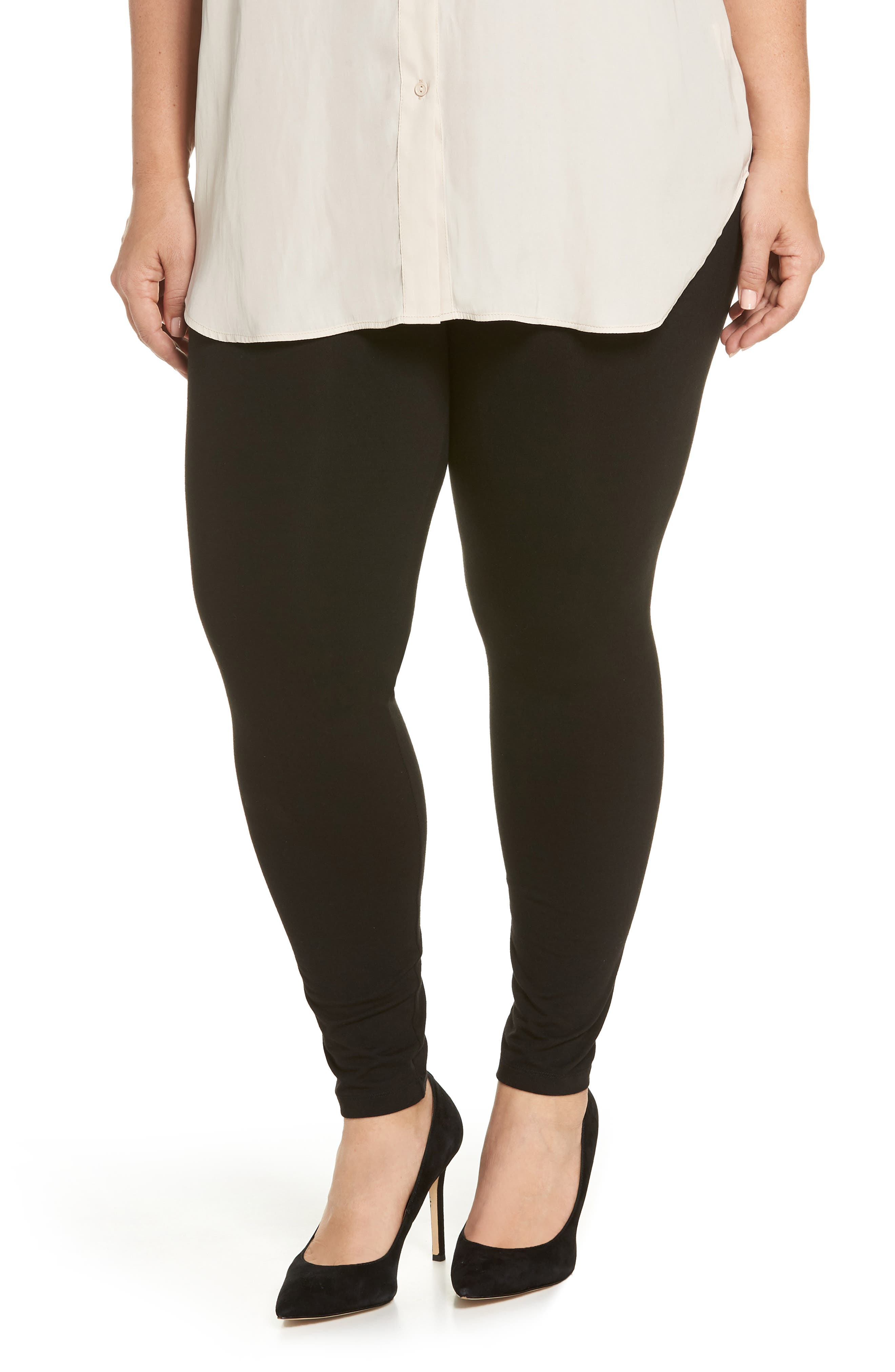 Plus Size Hue High Rise Leggings, Black