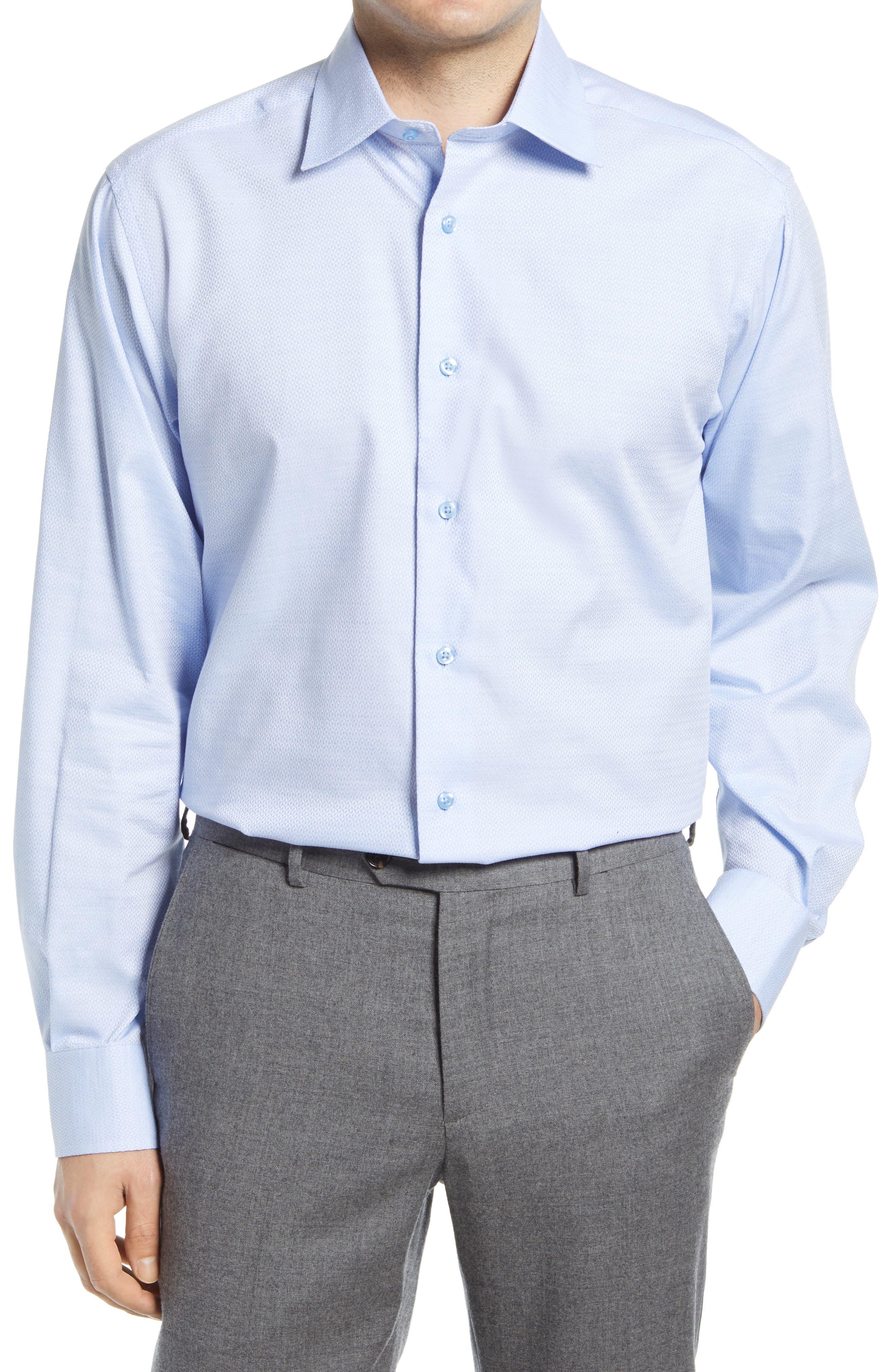 Regular Fit Diamond Dobby Dress Shirt