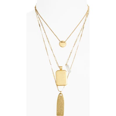 Madewell Treasure Pendant Necklace Set